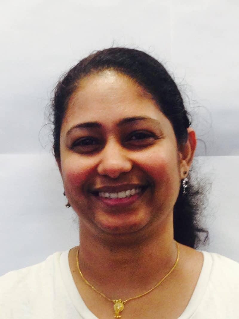 Staff member Biji Ajithkumar