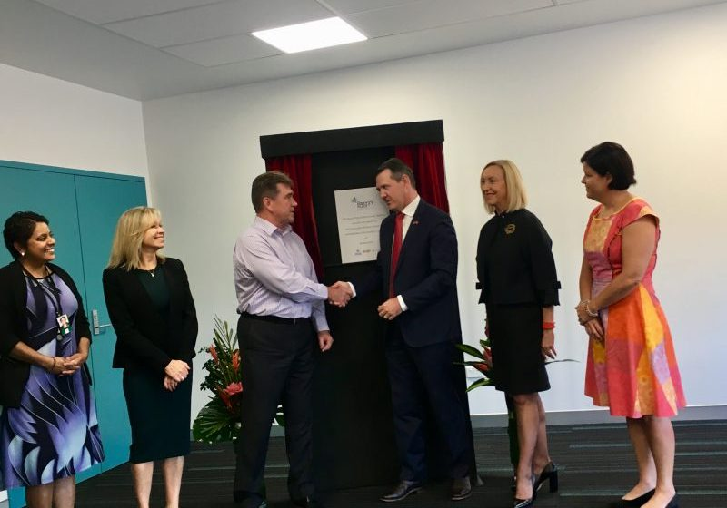 Chief Minister Michael Gunner officially opens the Harry's Place Administration Building