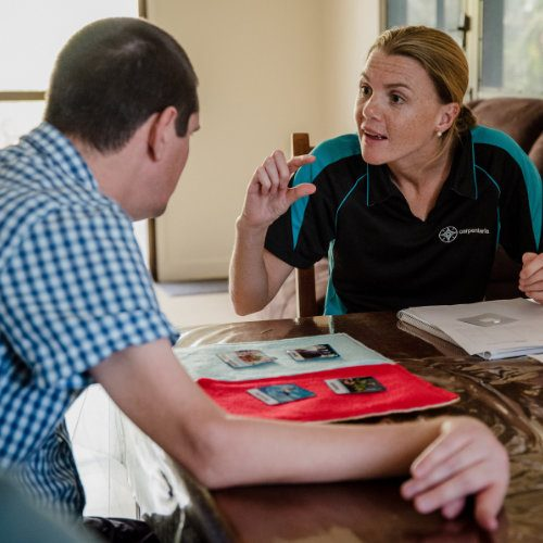 Carpentaria speech therapist supports an adult client