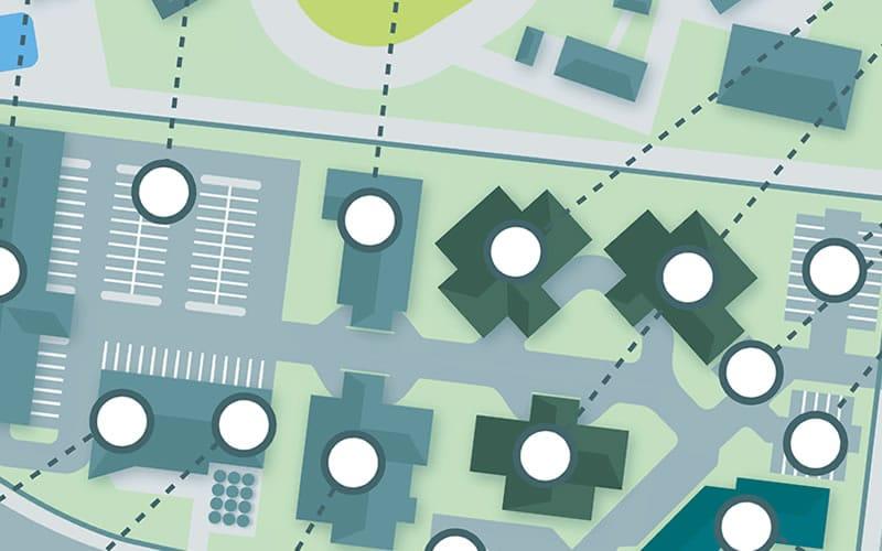 artists impression illustration of community hub facility